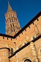 Europe/France/Midi-Pyrénées/31/Haute-Garonne/Toulouse: Basilique Saint-Sernin, étape sur le chemin de Saint-Jacques-de-Compostelle