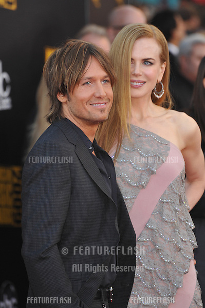 Keith Urban & Nicole Kidman at the 2009 American Music Awards at the Nokia Theatre L.A. Live..November 22, 2009  Los Angeles, CA.Picture: Paul Smith / Featureflash