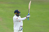 Murali Vijay of Essex celebrates scoring fifty runs on his debut during Nottinghamshire CCC vs Essex CCC, Specsavers County Championship Division 1 Cricket at Trent Bridge on 10th September 2018