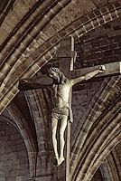 Europe/France/Auvergne/43/Haute-Loire/Parc Naturel Régional du Livradois-Forez/La Chaise Dieu: L'église abbatiale de Saint-Robert ([architecture] gothique) - Détail Christ 1603
