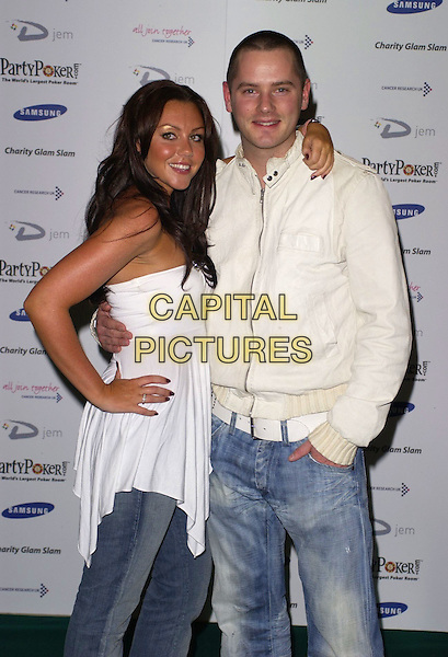 MICHELLE HEATON & TONY LUNDON.At Charity Glam Slam Poker Tournament, .Titanic, Brewer Street, London, England, .April 22nd 2006..half length lundun liberty x white jacket strapless top.Ref: CAN.www.capitalpictures.com.sales@capitalpictures.com.©Can Nguyen/Capital Pictures