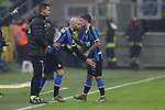 Stefano Sensi of Inter is substituted for Borja Valero of Inter during the Serie A match at Giuseppe Meazza, Milan. Picture date: 11th January 2020. Picture credit should read: Jonathan Moscrop/Sportimage