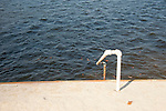 Candlewood Lake Club, CT. Railing to water.
