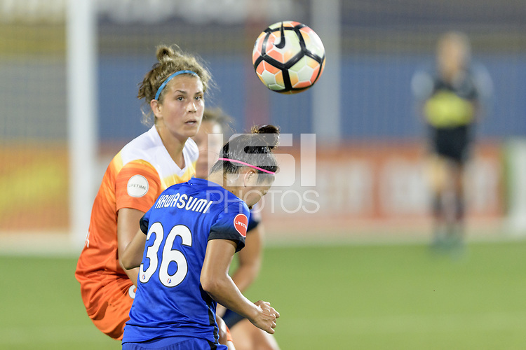 Frisco, TX - Sunday September 03, 2017: Nahomi Kawasumi during a regular season National Women's Soccer League (NWSL) match between the Houston Dash and the Seattle Reign FC at Toyota Stadium in Frisco Texas. The match was moved to Toyota Stadium in Frisco Texas due to Hurricane Harvey hitting Houston Texas.