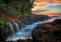 Queen's Bath Waterfalls. Kauai, Hawaii