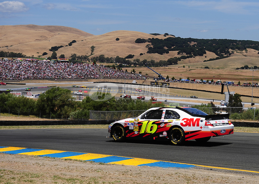 Jun. 20, 2010; Sonoma, CA, USA; NASCAR Sprint Cup Series driver Greg Biffle during the SaveMart 350 at Infineon Raceway. Mandatory Credit: Mark J. Rebilas-
