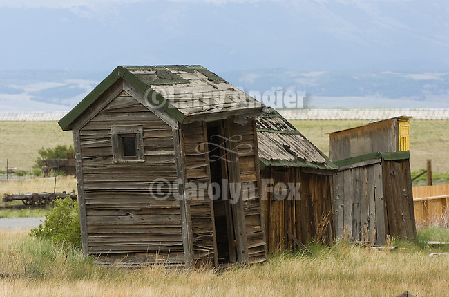 Wooden outhouses and shed, Como, Colorado