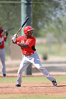 Cincinnati Reds shortstop Cory Thompson (15) during an Instructional League game against the Texas Rangers on October 7, 2013 at Goodyear Training Complex in Goodyear, Arizona.  (Mike Janes/Four Seam Images)