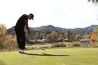 December 4, 2011: Tiger Woods tees off on 4 during the final round of the Chevron World Challenge held at Sherwood Country Club, Thousand Oaks, CA.