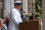 Chief of the Boat David Stephenson speaks at the USS Nevada Centennial of Launch ceremony at the Capitol, in Carson City, Nev., on Friday, July 11, 2014.<br /> Photo by Cathleen Allison