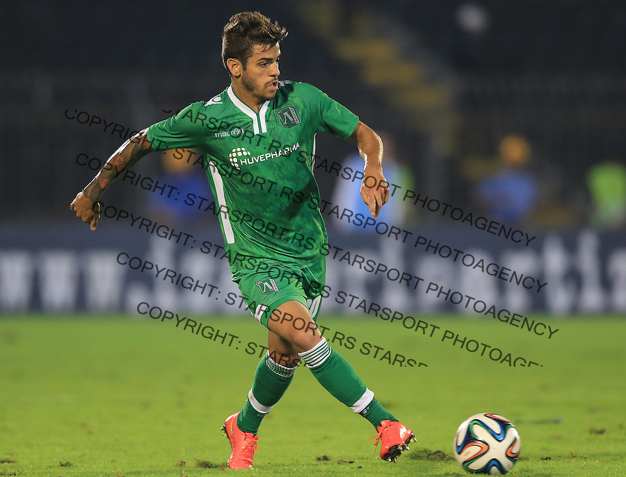 BELGRADE, SERBIA - AUGUST 06: Junior Caicara of Ludogorets Razgrad in action during the UEFA Champions League third qualifying round 2nd leg match between Partizan Belgrade and Ludogorets Razgrad at the Stadium JNA on August 06, 2014 in Belgrade, Serbia, 2014. (Photo by Srdjan Stevanovic/Getty Images)