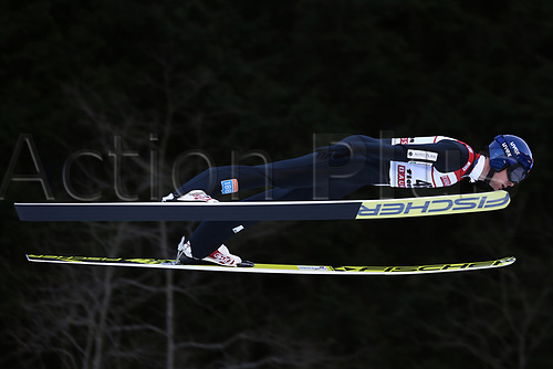 12th January 2018, Val di Fiemme, Fiemme Valley, Italy; FIS Nordic Combined World Cup, Mens Gundersen; Joergen Graabak (NOR)