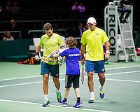 Februari 12, 2015, Netherlands, Rotterdam, Ahoy, ABN AMRO World Tennis Tournament, Jean-Julien Rojer (NED) / Horia Tegau (ROU) <br /> Photo: Tennisimages/Henk Koster