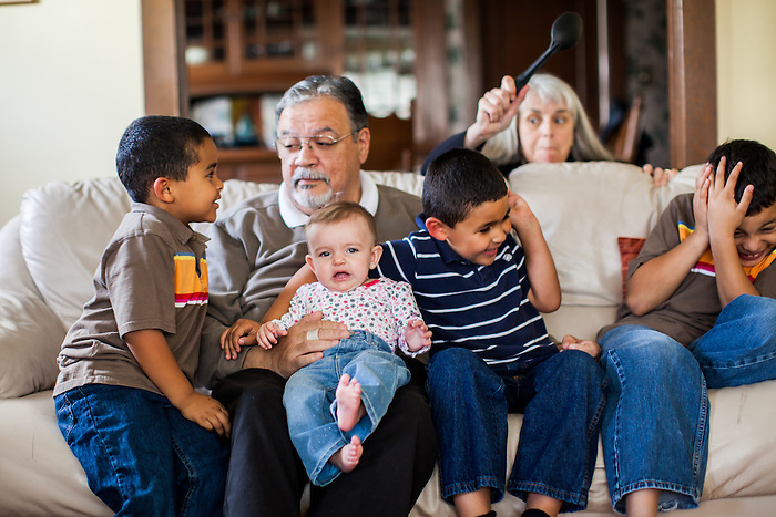 After Richard Leon was diagnosed with cancer in 2012, he and his family were photographed at his Oakland, California home. Leon died in September of 2012.