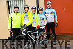 At The Kerry Crusader cycle club in association with Orbis scenic challenge on Sunday Starting at the Listowel community centre were Bill Doyle, Maura Fitzmorris, Geraldine Gallaher, Joan Flavin and Con Lynch