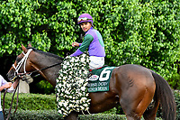 HOT SPRINGS, AR - APRIL 14: Oaklawn Park on April 14, 2018 in Hot Springs,Arkansas. #6 Magnum Moon with jockey Luis Saez  (Photo by Ted McClenning/Eclipse Sportswire/Getty Images)