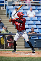 Altoona Curve left fielder Tyler Gaffney (32) at bat during a game against the Binghamton Rumble Ponies on June 14, 2018 at NYSEG Stadium in Binghamton, New York.  Altoona defeated Binghamton 9-2.  (Mike Janes/Four Seam Images)