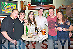 Ringing in the New Year: Patrons of the Saddle Bar, Litowel ringing in the new yea. L- R : Danny Quinlivan, Daniel Costello, Marie  O'connor, Simon Clarke, Danny Blake & Dara Costello.