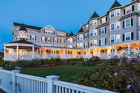 Harbor View Hotel at dusk, Edgartown, Martha's Vineyard, Massachusetts, USA