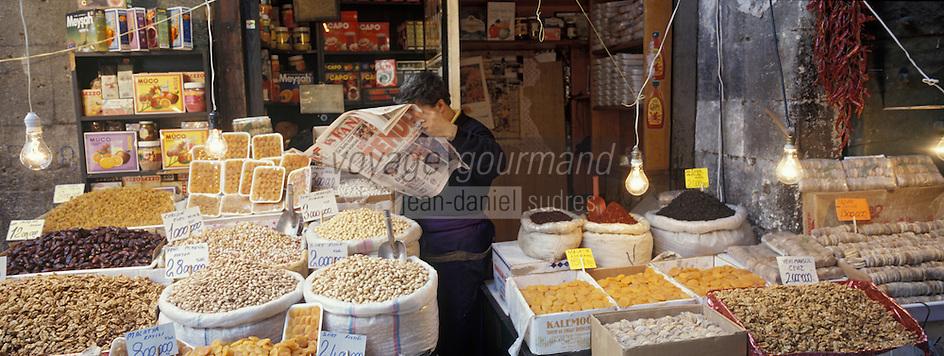 """Europe/Turquie/Istanbul: Bazar aux épices """"Misir Carsisi"""" - Détal étal"""