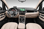 Stock photo of straight dashboard view of 2015 BMW 2 Series Gran Tourer Luxury 5 Door Mini Mpv Dashboard