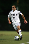 Danny Kramer of Duke University on Tuesday September 27th, 2005 at Duke University's Koskinen Stadium in Durham, North Carolina. The Duke University Blue Devils defeated the Longwood University Lancers 3-1 during an NCAA Division I Men's Soccer game.