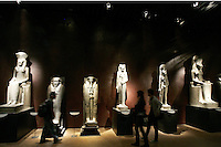 Statue nel Museo Egizio di Torino.<br /> Statues in the Egyptian Museum of Turin.<br /> UPDATE IMAGES PRESS/Riccardo De Luca