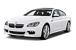 Front three quarter view of a 2012 Bmw SERIES 6 Gran Coupe 640i 4 Door Sedan 2WD