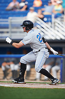 Hudson Valley Renegades left fielder Ryan Boldt (20) at bat during a game against the Batavia Muckdogs on July 31, 2016 at Dwyer Stadium in Batavia, New York.  Hudson Valley defeated Batavia 4-1.  (Mike Janes/Four Seam Images)
