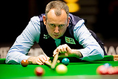 30th January 2019, Berlin, Germany;  Mark Williams, snooker world champion and defending champion from Wales, plays Zhou Yuelong from China at the German Masters 2019.