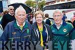 Tim Brosnan with Anne and Tim Dennehy, all from Castlegregory, enjoying the All Ireland SFC quarter final Kerry v Galway in Croke Park, Dublin on Sunday.