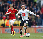 Tom Ince of Derby during the Skybet Championship match at the iPro Stadium. Photo credit should read: Philip Oldham/Sportimage