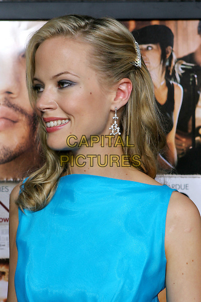 "PELL JAMES.Lions Gate World Premiere of ""Undiscovered"" held at The Egyptian Theater, Hollywood, 23rd August 2005.portrait headshot turquoise blue dress chiffon silver dangling dimante earrings hair clip pin.www.capitalpictures.com.sales@capitalpictures.com.© Capital Pictures."