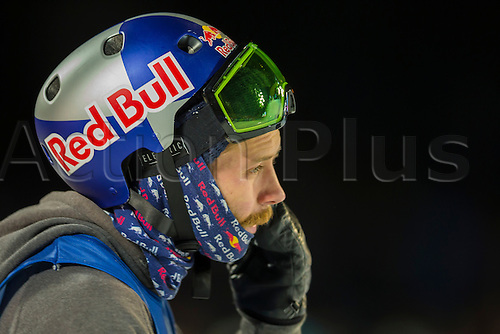 27.02.2016. Toyen, Big Jump Oslo, Norway.  Red Bull X Games Oslo 2016. Men's Snowboard Big Air Final. Billy Morgan of United Kingdom  in action during the men's Snowboard Big Air Final at the Red Bull X Games Oslo 2016 in Toyen Big Jump  Oslo, Norway.