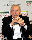 Edward Albee arrives for the formal Artist's Dinner honoring the recipients of the 2012 Kennedy Center Honors hosted by United States Secretary of State Hillary Rodham Clinton at the U.S. Department of State in Washington, D.C. on Saturday, December 1, 2012. The 2012 honorees are Buddy Guy, actor Dustin Hoffman, late-night host David Letterman, dancer Natalia Makarova, and the British rock band Led Zeppelin (Robert Plant, Jimmy Page, and John Paul Jones)..Credit: Ron Sachs / CNP