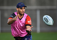 Simon Mannering.<br /> Vodafone Warriors training session. Mt Smart Stadium, Auckland, New Zealand. NRL Rugby League. Wednesday 9 May 2018 &copy; Copyright photo: Andrew Cornaga / www.photosport.nz