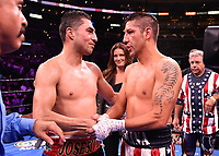 LOS ANGELES - SEPTEMBER 28:  Josesito Lopez and John Molina Jr. during their fight at the Fox Sports PBC Pay-Per-View fight night on September 28, 2019 in Los Angeles, California. (Photo by Frank Micelotta/Fox Sports/PictureGroup)