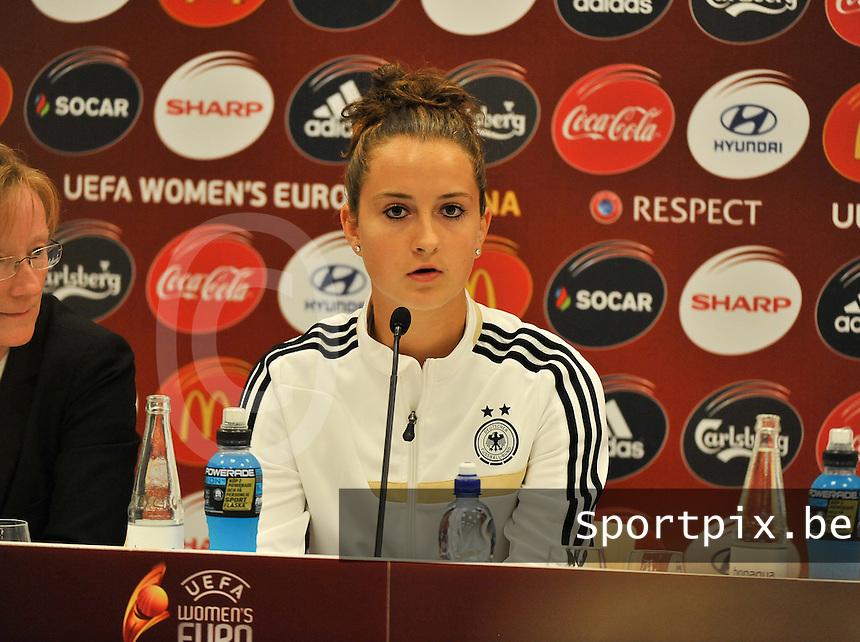 Friends Arena Solna - Stockholm ; MD-1 press conference Germany ;<br /> Sara Dabritz<br /> foto DAVID CATRY / Nikonpro.be