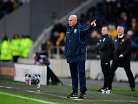 Sheffield Wednesday's coach Steve Agnew shouts instructions to his team from the technical area<br /> <br /> Photographer Chris Vaughan/CameraSport<br /> <br /> The EFL Sky Bet Championship - Hull City v Sheffield Wednesday - Saturday 12th January 2019 - KCOM Stadium - Hull<br /> <br /> World Copyright © 2019 CameraSport. All rights reserved. 43 Linden Ave. Countesthorpe. Leicester. England. LE8 5PG - Tel: +44 (0) 116 277 4147 - admin@camerasport.com - www.camerasport.com