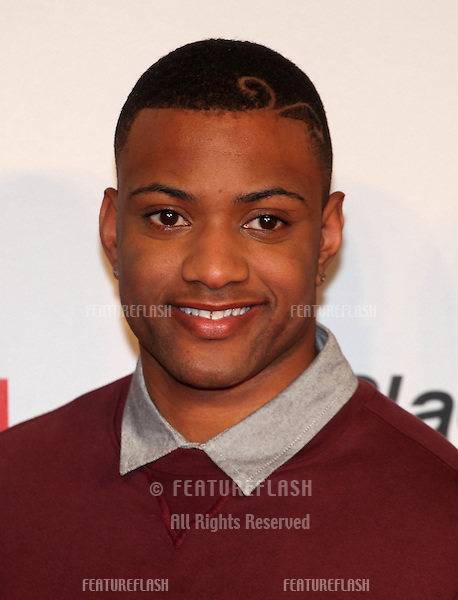 JB from JLS arriving for the Capital Radio Jingle Bell Ball, O2 Arena, London. 08/12/2012 Picture by: Alexandra Glen / Featureflash