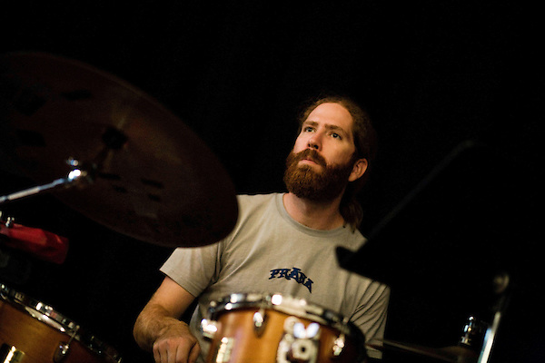 September 14, 2010.  Durham, North Carolina.. Joe Westerlund, of Megafaun.. Day One of Sounds of the South, a reinterpretation of Alan Lomax's field recordings, with music by Megafaun, Fight the Big Bull, Sharon Van Etten and Justin Vernon of Bon Iver..