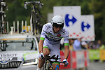 Romain Hardy (FRA) Fortuneo-Oscaro in action during Stage 1, a 14km individual time trial around Dusseldorf, of the 104th edition of the Tour de France 2017, Dusseldorf, Germany. 1st July 2017.<br /> Picture: Eoin Clarke | Cyclefile<br /> <br /> <br /> All photos usage must carry mandatory copyright credit (&copy; Cyclefile | Eoin Clarke)