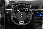 Car pictures of steering wheel view of a 2019 Renault Kadjar Black-Edition 5 Door SUV