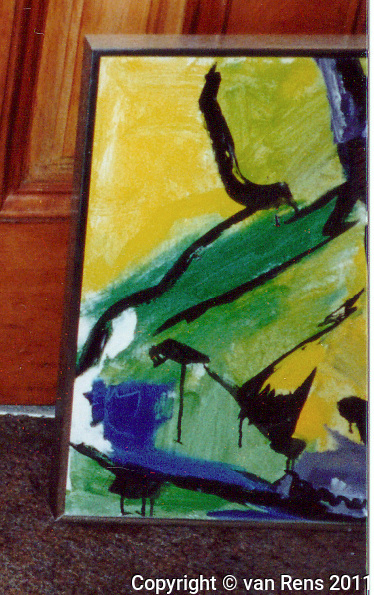 Fragment of painting