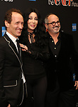 """Jeffrey Seller, Cher and Flody Suarez attends the Broadway Opening Night Performance of """"The Cher Show""""  at the Neil Simon Theatre on December 3, 2018 in New York City."""