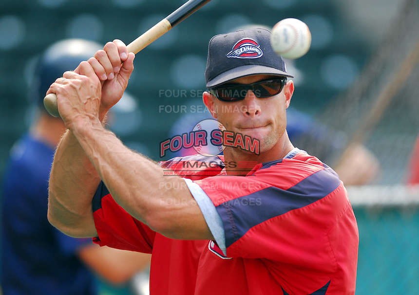 23 July 2007: Gabe Kapler of the Greenville Drive, Class A South Atlantic League affiliate of the Boston Red Sox, in a game against the Savannah SandGnats at West End Field in Greenville, S.C. Photo by:  Tom Priddy/Four Seam Images