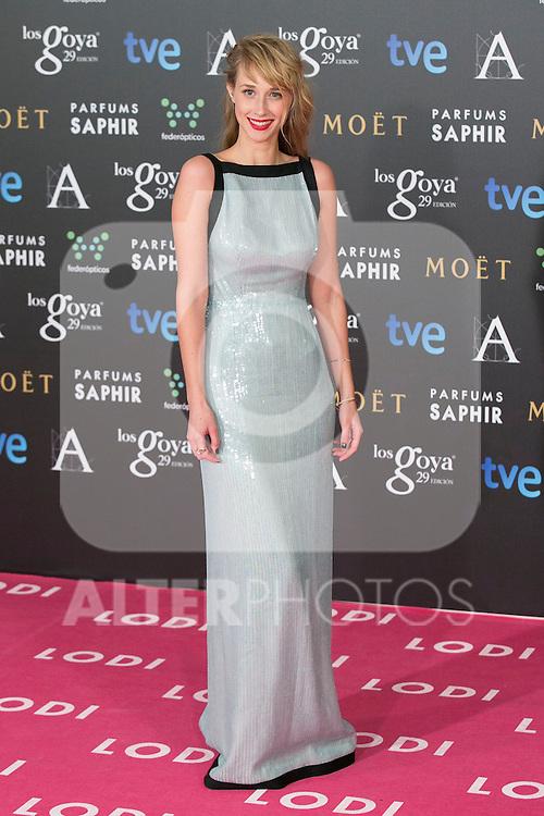 Ingrid Garcia Johnson attend the 2015 Goya Awards at Auditorium Hotel, Madrid,  Spain. February 07, 2015.(ALTERPHOTOS/)Carlos Dafonte)