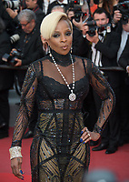 Singer Mary J. Blige at the premiere for &quot;The Meyerowitz Stories&quot; at the 70th Festival de Cannes, Cannes, France. 21 May  2017<br /> Picture: Paul Smith/Featureflash/SilverHub 0208 004 5359 sales@silverhubmedia.com