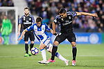 Victor Diaz (l) of Deportivo Leganes battles for the ball with Carlos Henrique Casemiro of Real Madrid during their La Liga match between Deportivo Leganes and Real Madrid at the Estadio Municipal Butarque on 05 April 2017 in Madrid, Spain. Photo by Diego Gonzalez Souto / Power Sport Images