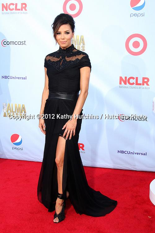 LOS ANGELES - SEP 16:  Eva Longoria arrives at the 2012 ALMA Awards at Pasadena Civic Auditorium on September 16, 2012 in Pasadena, CA